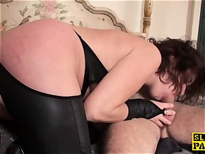 ginger-haired british marionette assfucked and trussed