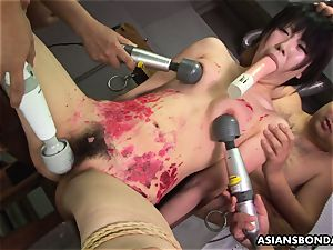 japanese tart likes to be bdsm treated to a wax demonstrate
