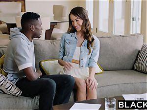 BLACKED teen female tries big black cock
