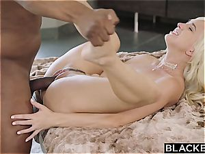 BLACKED first-ever multiracial For ultra-kinky platinum-blonde Eliza Jane