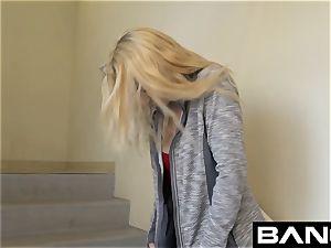 inexperienced Sierra Nicole unveiled in Stairwell demonstrating