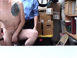 strung up shoplifter gets checked and touched by female mall cop Rachael Cavalli