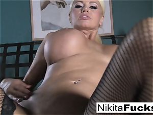 point of view fucking Nikita Von James with a meaty beef whistle