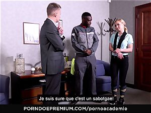 porno ACADEMIE - ass fucking 3some with blonde college girl