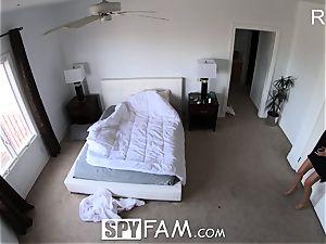 SpyFam Step mommy Brett Rossi massages step sonnie big weenie
