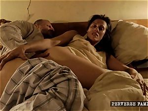 pervy step-sister attempting assfuck with her bro