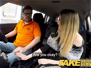 fake Driving college smallish learner with diminutive globes
