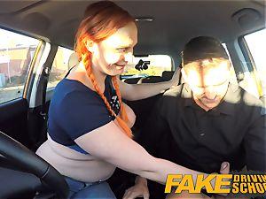 fake Driving school Examiner dumps cum all over twat