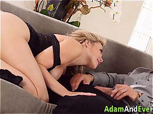 wondrous couple Mia Malkova and Danny Mountain pounding