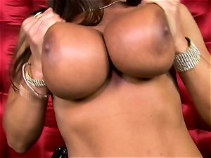 stunning Lisa Ann exposes her ginormous tastey melons