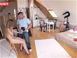 Czech teen ultra-cutie Alexis Crystal first porno Shoot